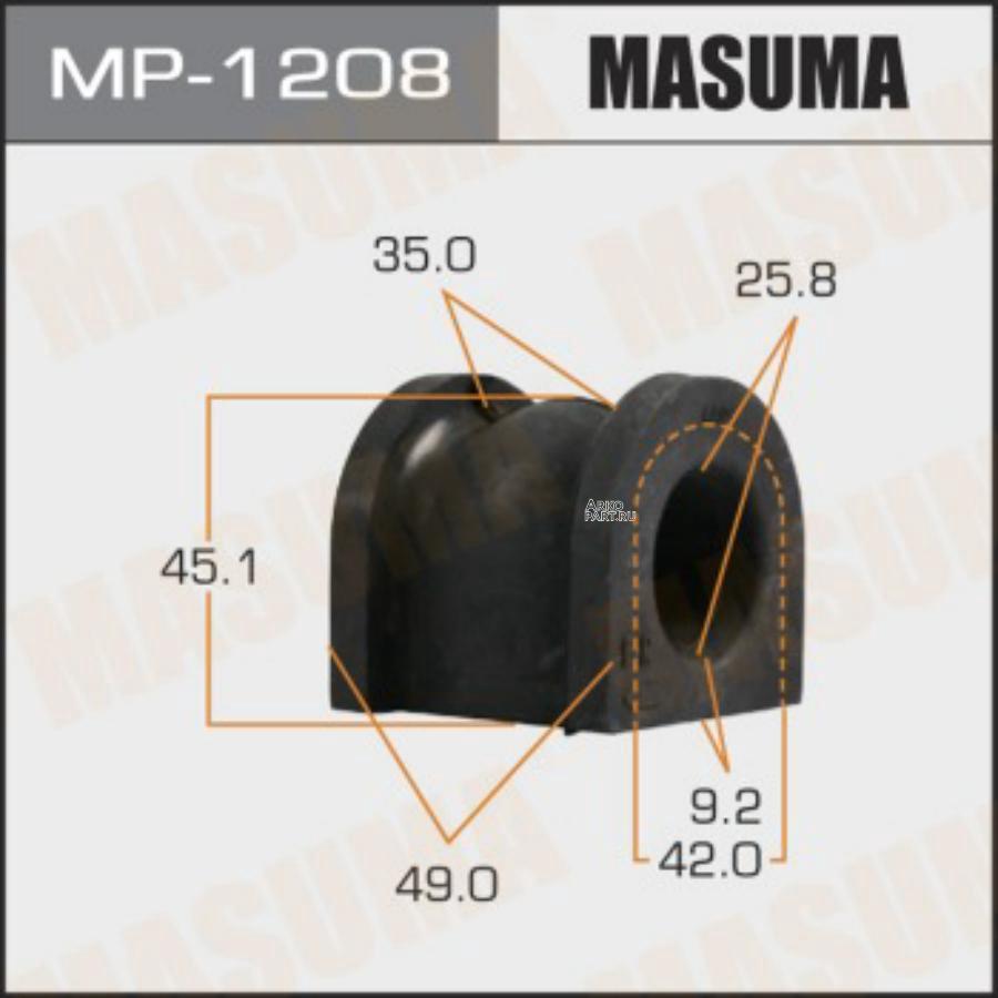 Втулка стабилизатора MASUMA  /front/ ACCORD / CL7, CL9   [уп.2]