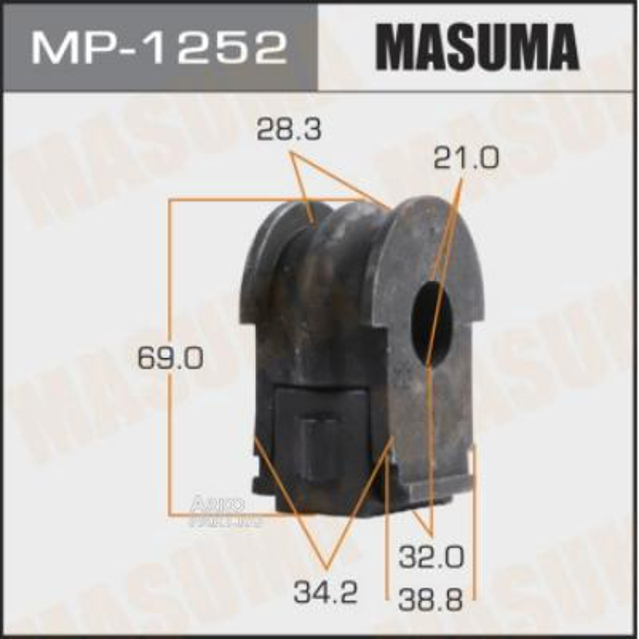 Втулка стабилизатора MASUMA  /front/ QASHQAI / J11E   [уп.2]