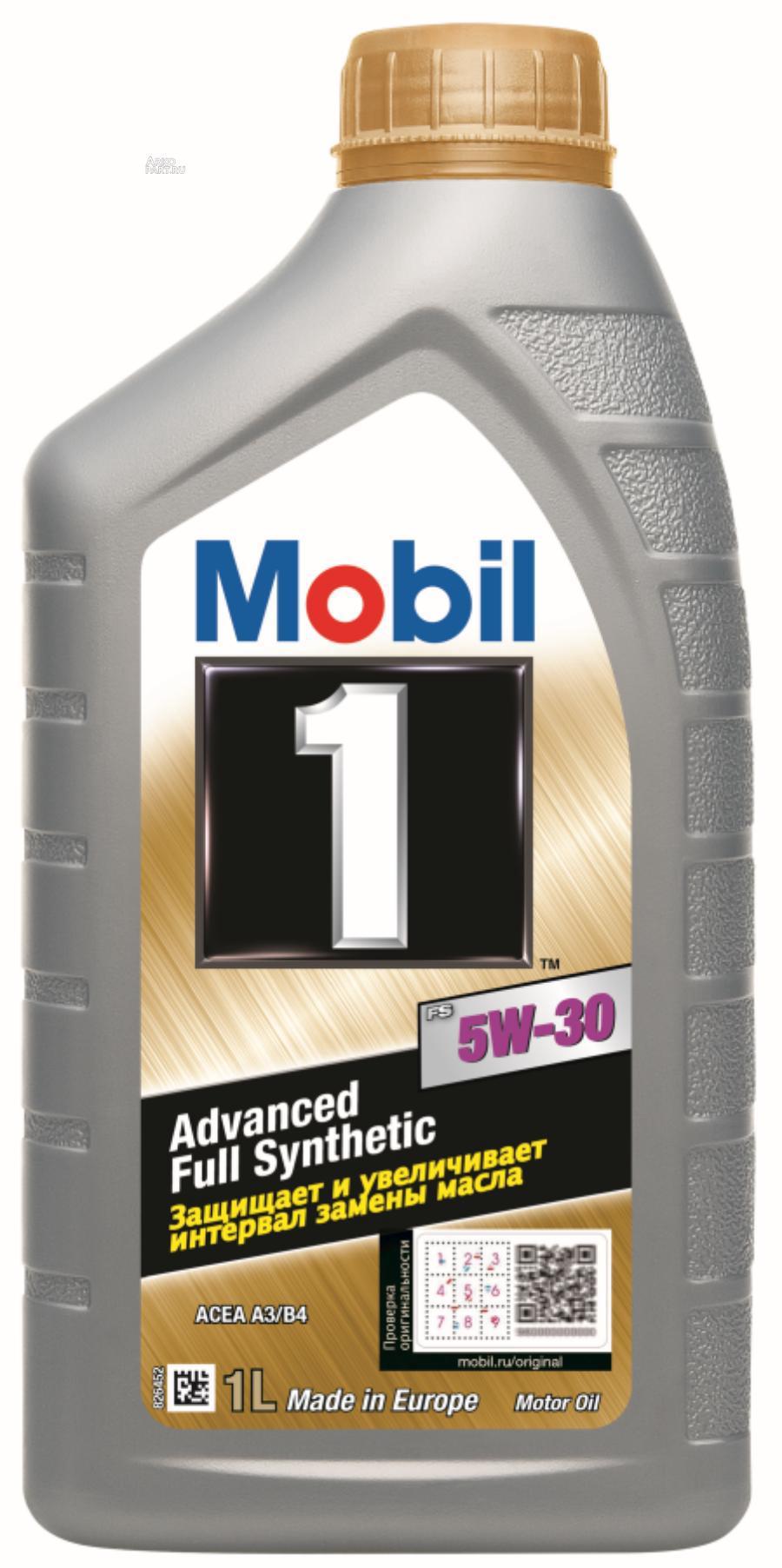 Mobil 1 FS 5W30 (1L)_масло моторное! синт.\ API SN, ACEA A3/B3/B4 VW 502 00,VW 505 00,MB 229.3/229.5