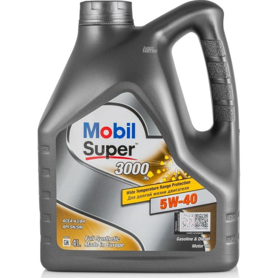 Масло моторное MOBIL 152566 5W40 (4L) Super3000 MOBIL 152566