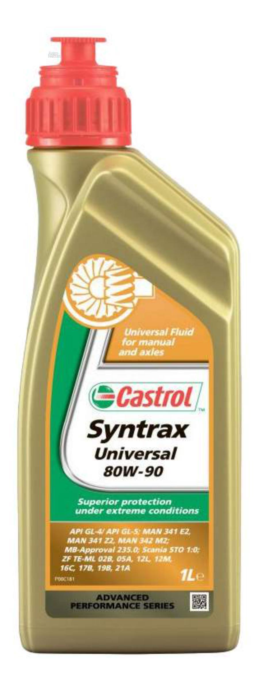 Масло трансмиссионное синтетическое Syntrax Universal 80W-90, 1л