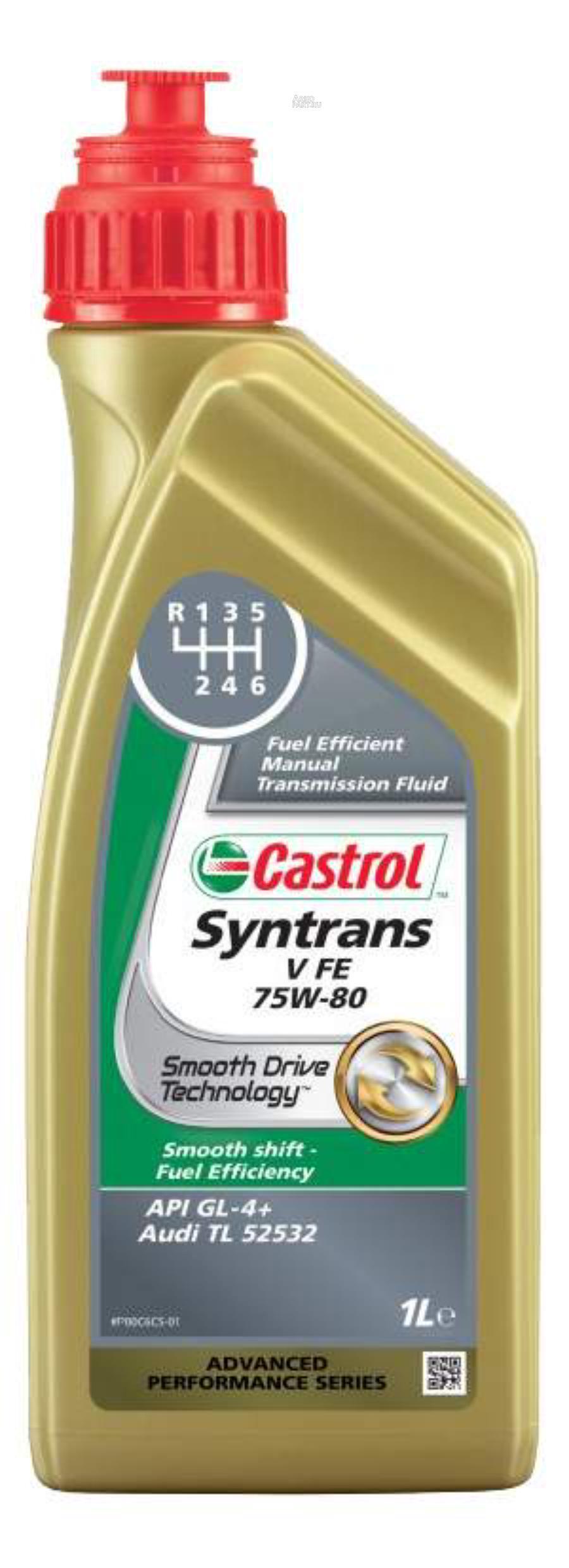 Масло трансмиссионное CASTROL Syntrans V FE 75W80 (1 л) синт.