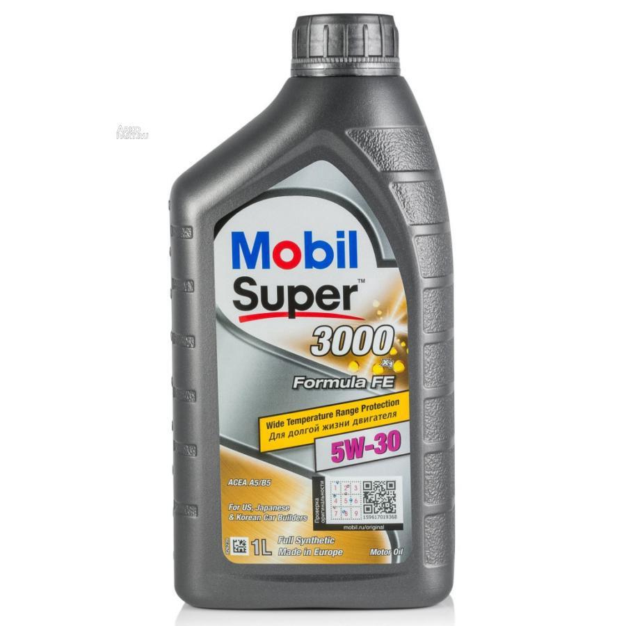 Масло моторное MOBIL Super 3000 Formula Fe 5W30 (1 л) синт. MOBIL 152565