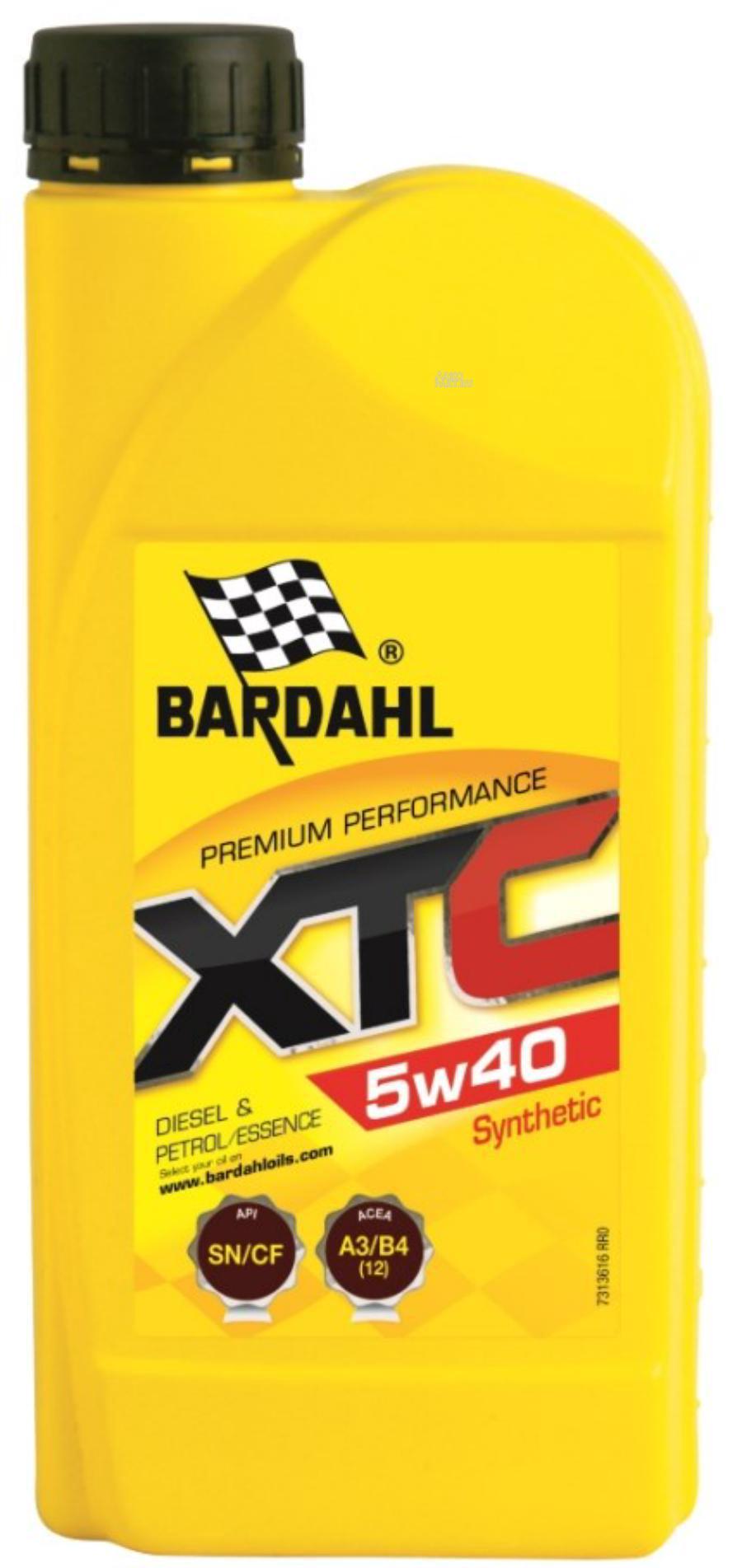 5W40 XTC SN/CF 1L (синт. моторное масло) BARDAHL 36161