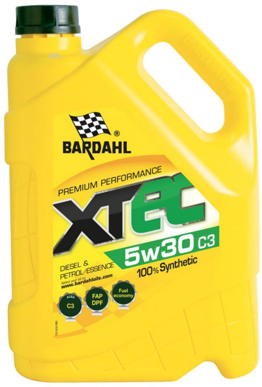 Масло моторное синтетическое XTEC C3 5W-30 5л 36303 BARDAHL 36303