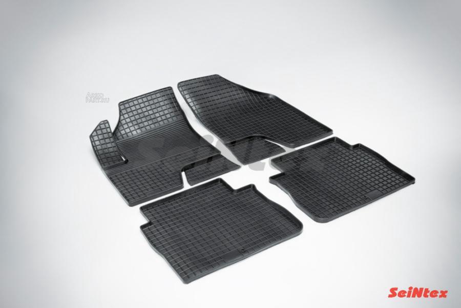 Резиновые коврики Сетка для Hyundai Santa Fe II (педаль а сверху) 2006-2010