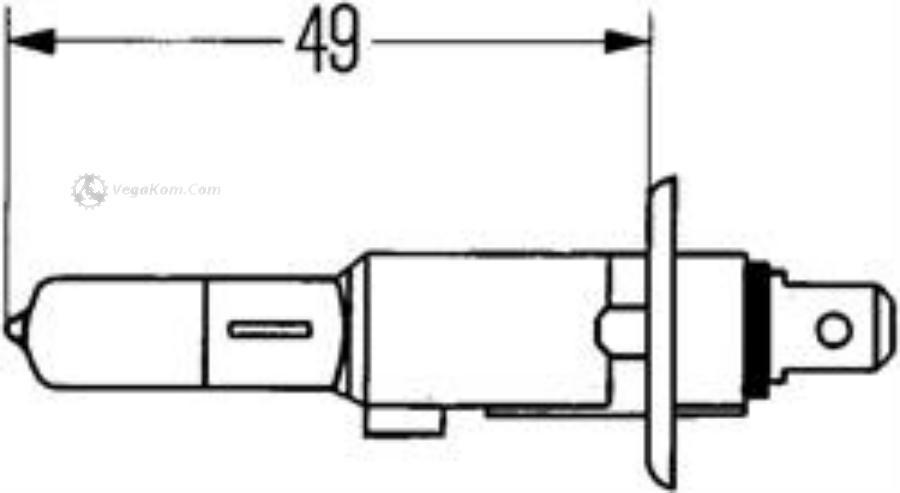 ЛАМПА H1 55W 12V P14.5S ГАЛОГЕННАЯ ГОЛУБАЯ BLUE LIGHT