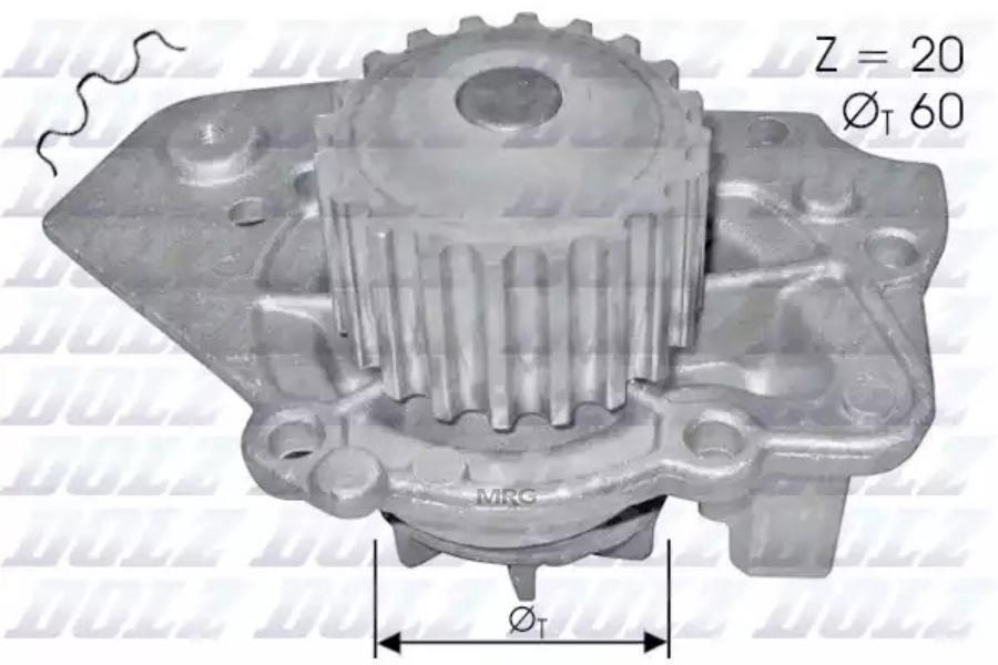 Насос водяной Citroen ZX/BX 1.6-1.9/1.7D-1.9D 82-98