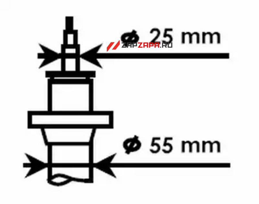 Стойка амортизационная - Ultra SR перед прав/лев