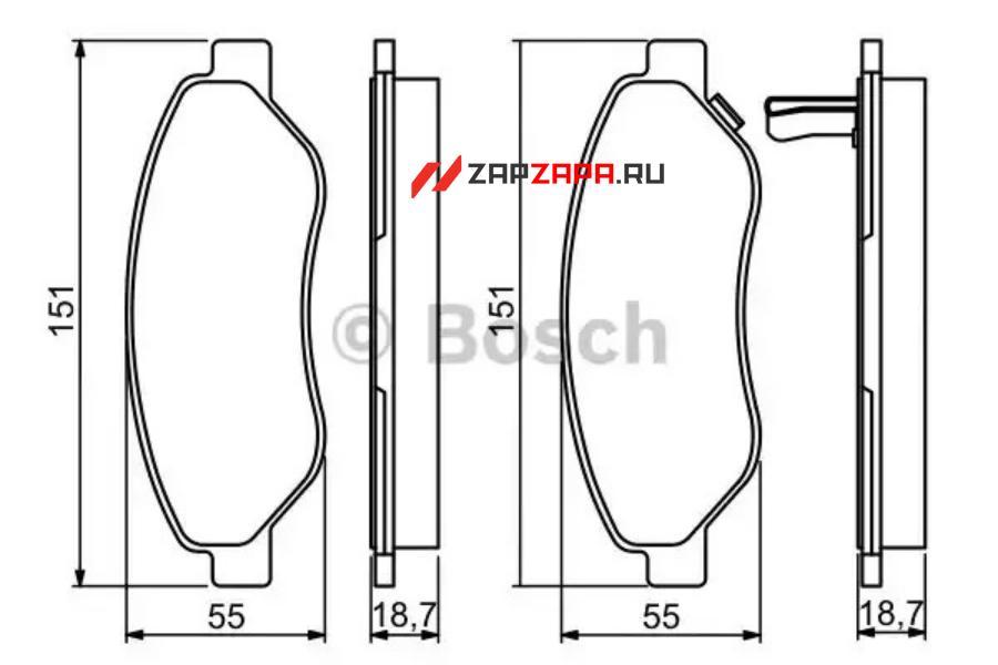 Колодки тормозные CITROEN C4 03-/PEUGEOT 307/PARTNER 1.4/1.6 -ESP передние