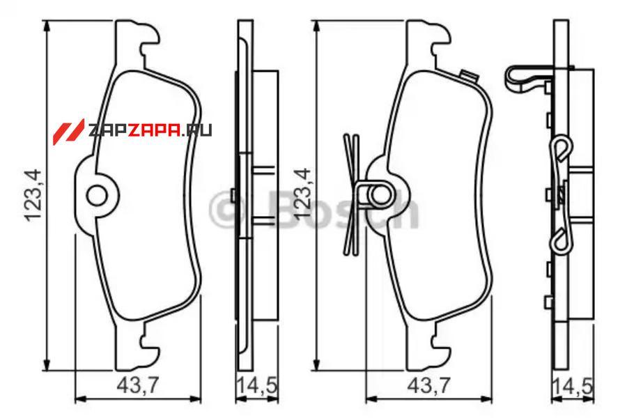 Колодки тормозные задние с пластинами KUR1840 KUJIWA 43022TV0E01 HONDA