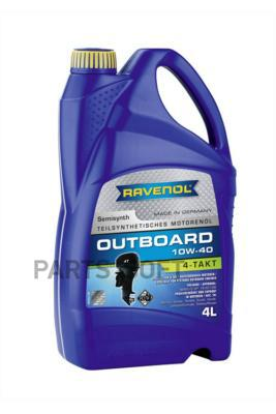 Масло моторное полусинтетическое Outboardoel 4T 10W-40, 4л
