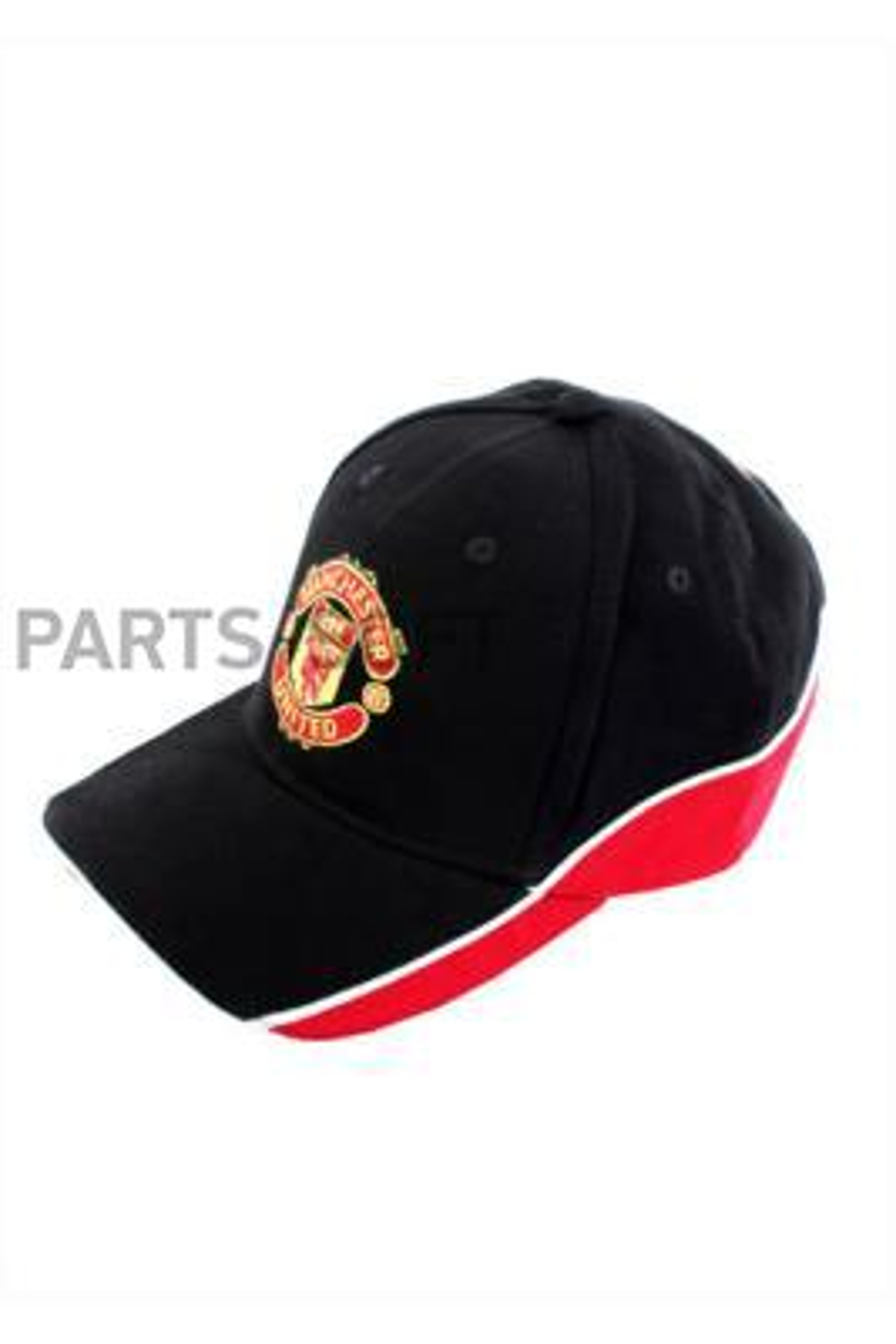 Бейсболка черная, красная GULF Manchester United