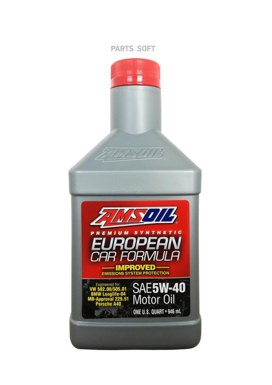 Масло моторное синтетическое European Car Formula Mid-SAPS Synthetic Motor Oil 5W-40, 0,946л