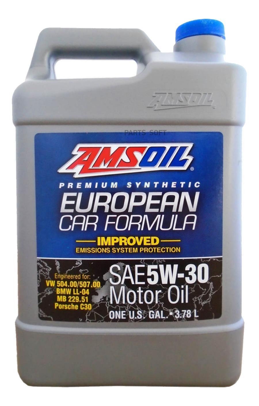 Масло моторное синтетическое European Car Formula Low-SAPS Synthetic Motor Oil 5W-30, 3,784л