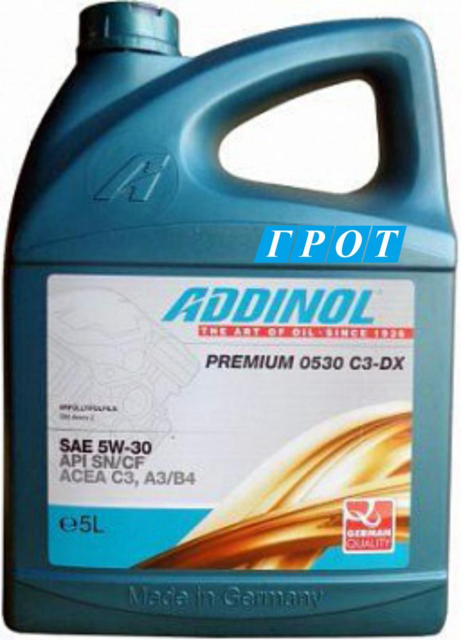 Масло моторное синтетическое Premium 0530 C3-DX 5W-30, 5л