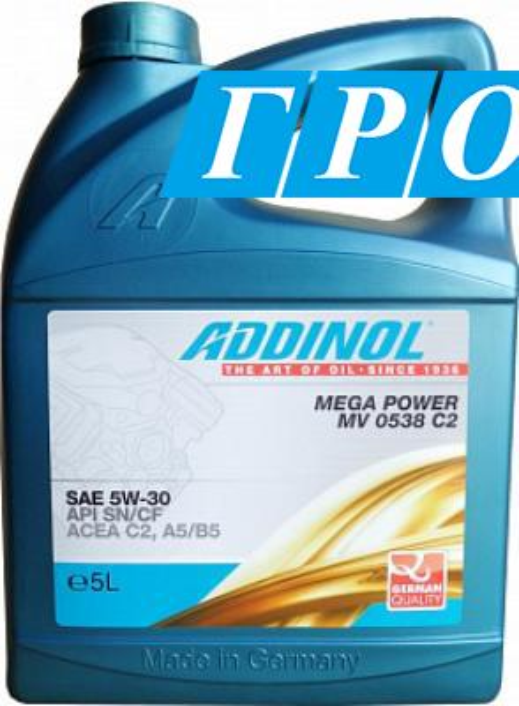 Масло моторное синтетическое Mega Power MV 0538 C2 5W-30, 5л