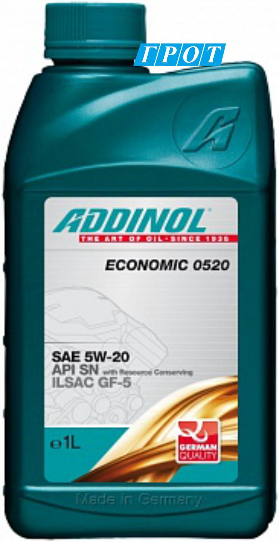 Масло моторное синтетическое Economic 0520 5W-20, 1л