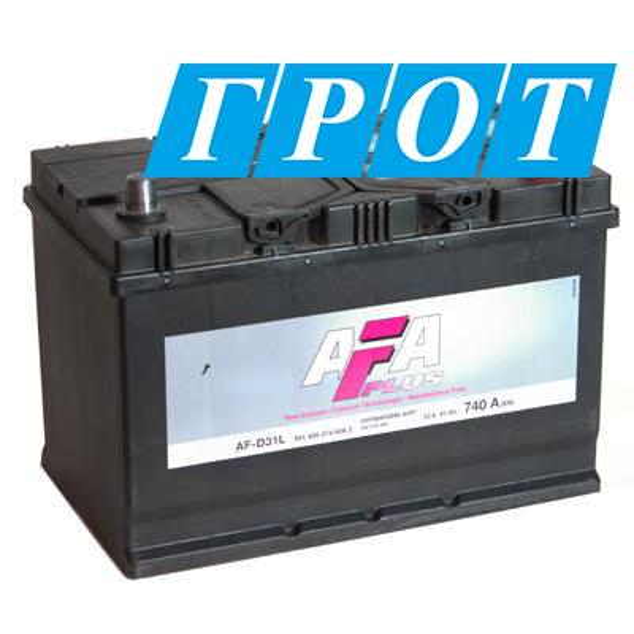 Аккумулятор AFA 91 А/ч 591400 AF ОБР выс EN 740