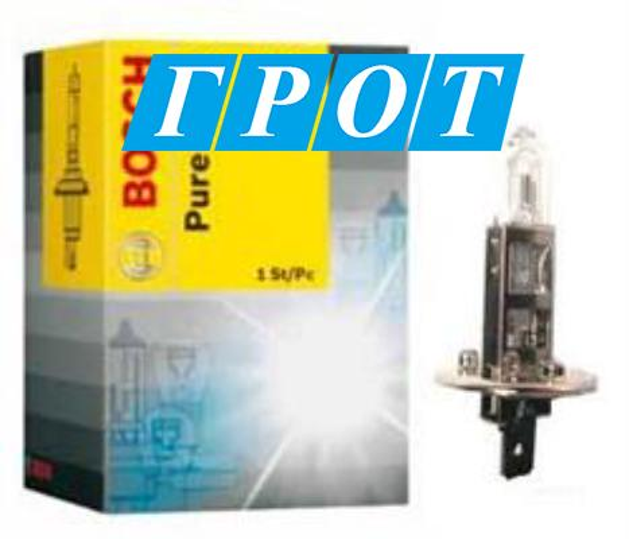 Лампа H1 55W 1987302011 BOSCH