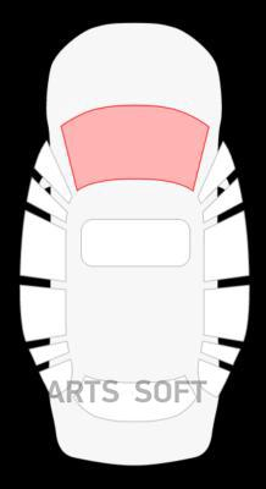 Audi 80 4D седан (без полосы)