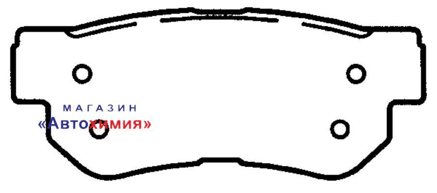КОЛОДКА ТОРМОЗНАЯ ДИСКОВАЯ задние HYUNDAI Solaris/Accent IV 10- , i40 11-  KIA Amanti '07~, Opirus