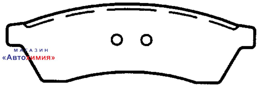 КОЛОДКА ТОРМОЗНАЯ ДИСКОВАЯ задние CHEVROLET EPICA (KL1) 116 Л. С. БЕНЗИН 2006 ->
