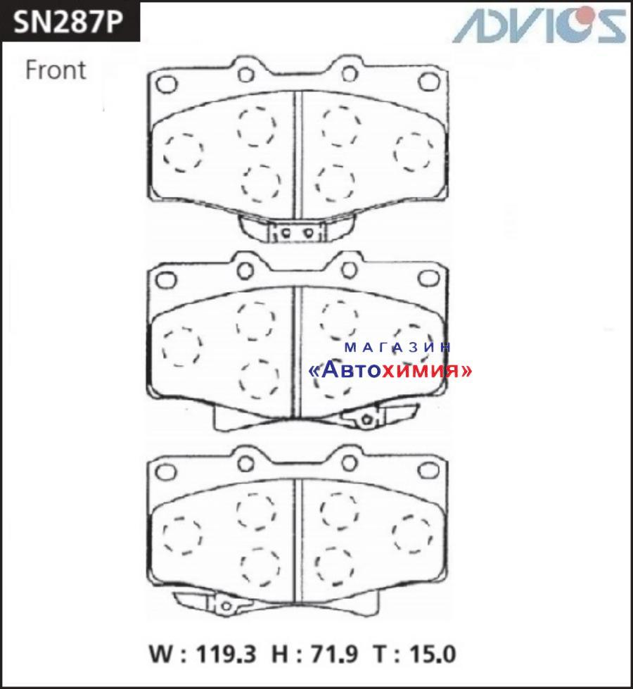 Дисковые тормозные колодки ADVICS