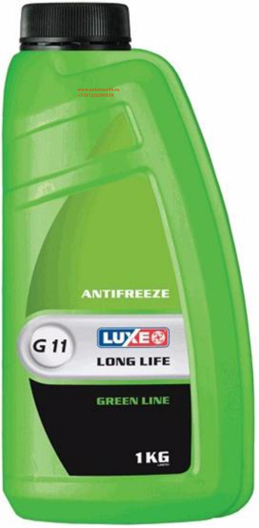 Антифриз готовый к применению LUXE Antifreeze Green Line G11 (1л)