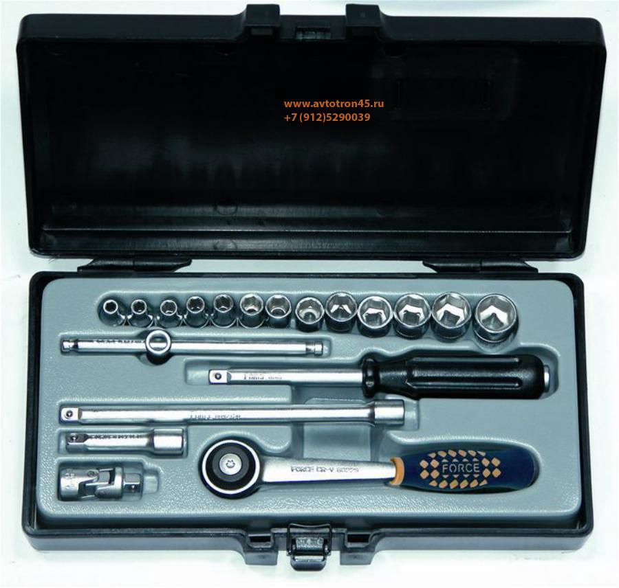 Набор 6-ти гранных головок и инструмента FORCE 2203