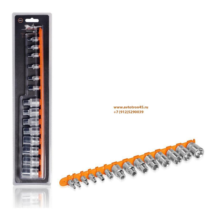Набор головок TORX E4-E24 на подвесе 14 предметов