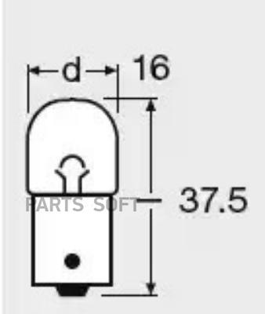 Лампа 12V 5W BA15S/5007