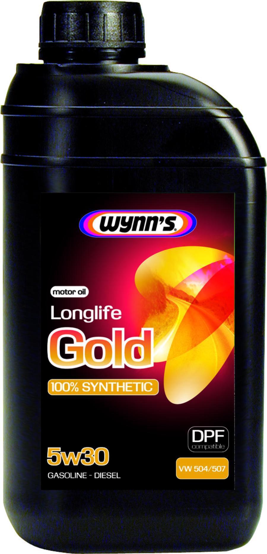 Моторное масло синтетическое WYNNS LONGLIFE GOLD 5W-30, 1л