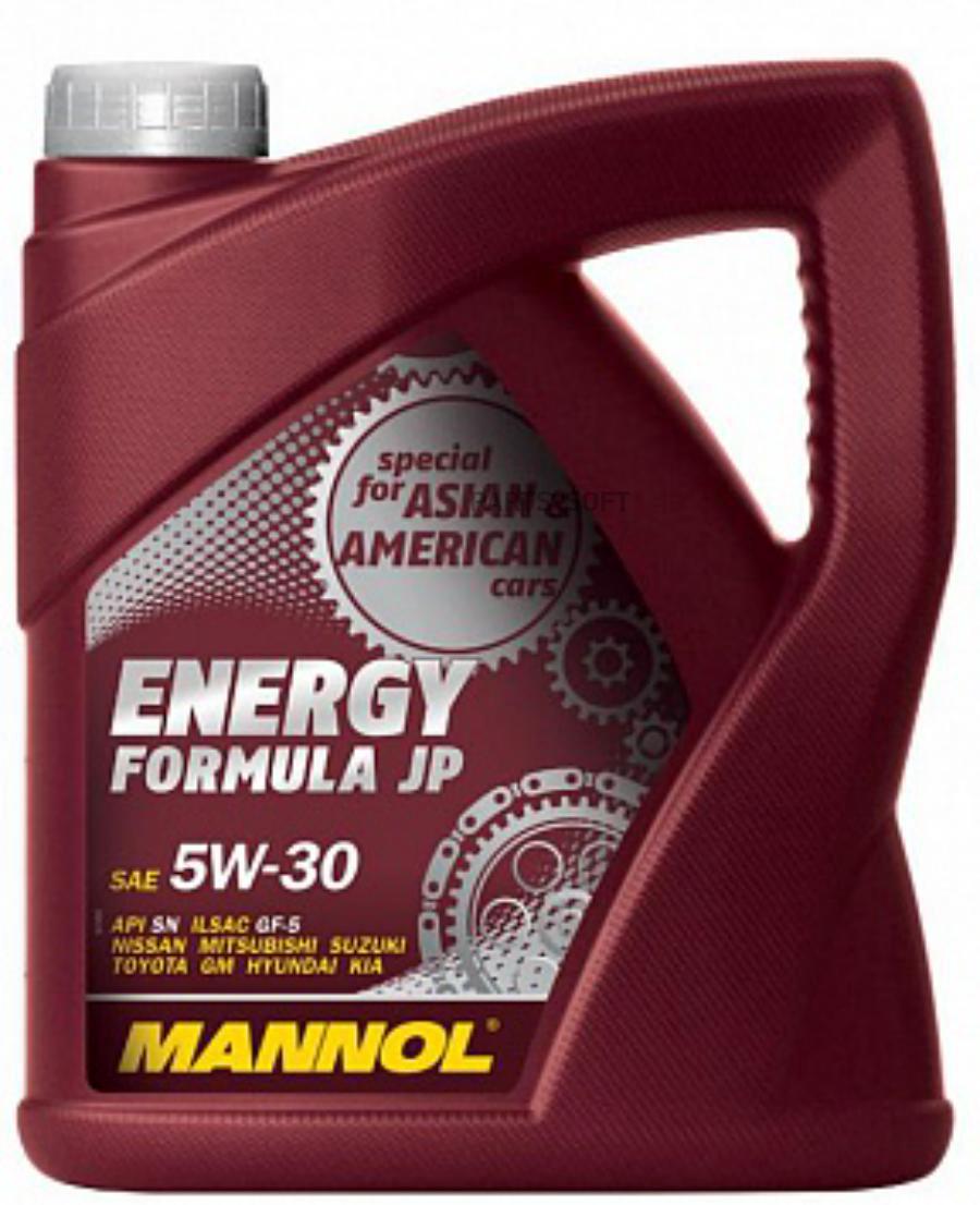 Масло моторное синтетическое Energy Formula JP 5W-30, 4л