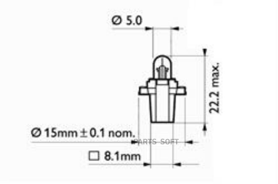 Лампа накаливания MF8 12В 1