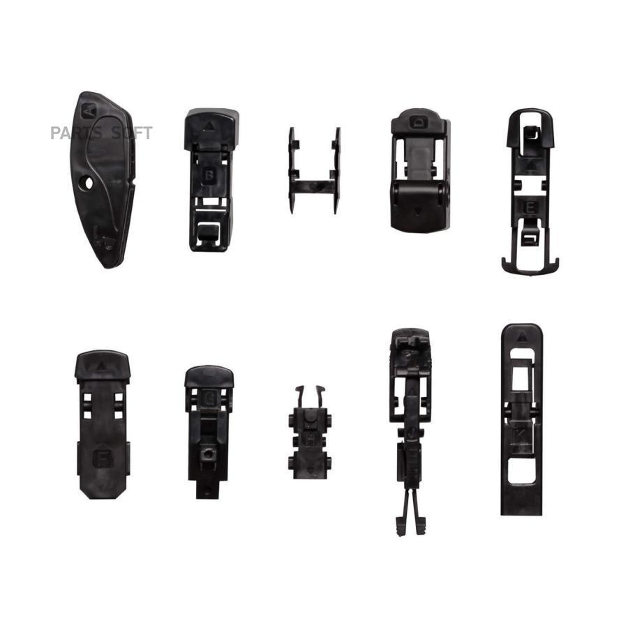 Щетки стеклоочистителя 43см универсальная Garde всесезонная бескаркасная WBF430 6 адаптеров