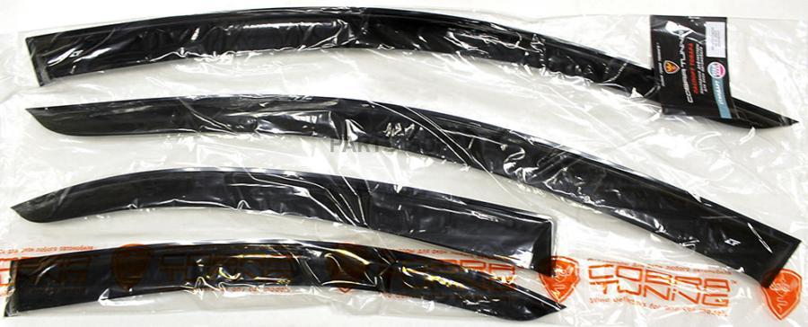 Дефлекторы боковых окон Mitsubishi Lancer X 2007- Cobra Tuning