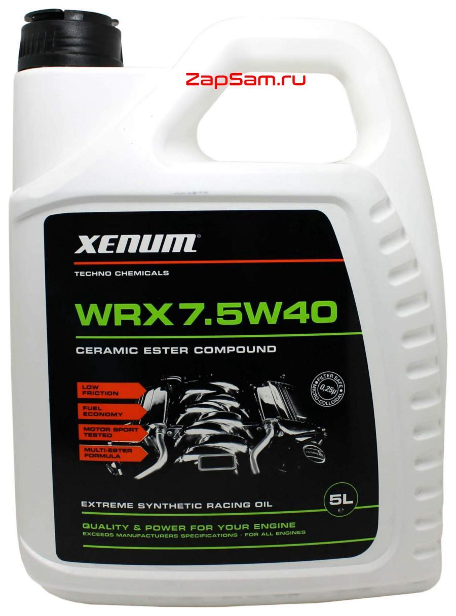 Масло моторное синтетическое WRX 7,5W-40, 5л