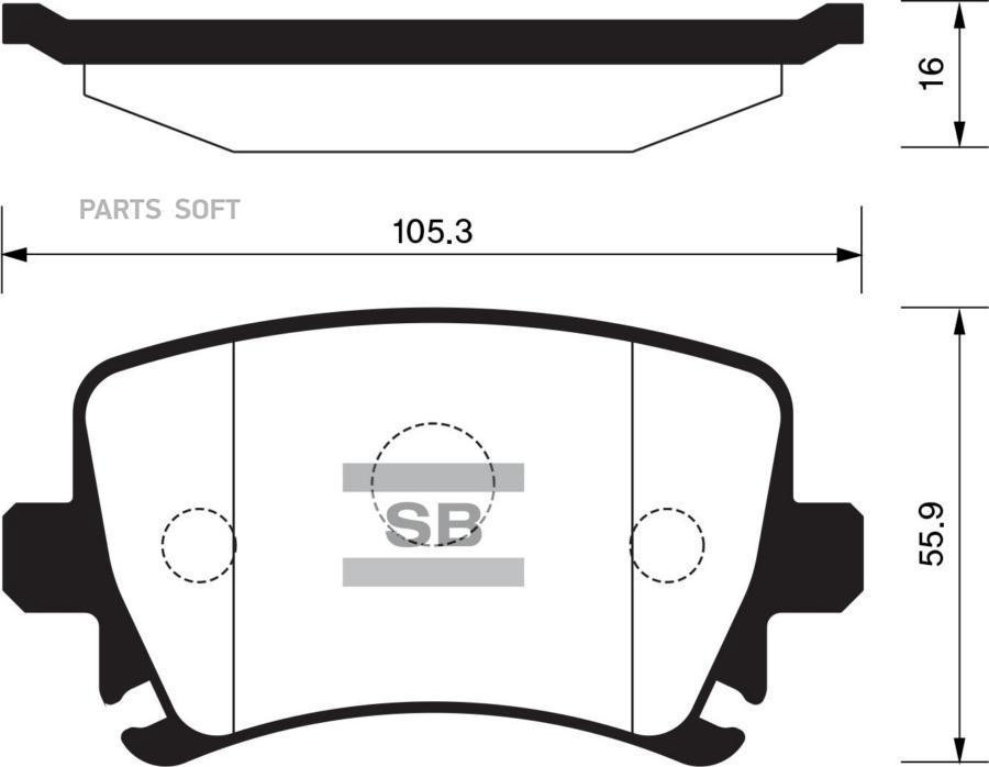Колодки торм. AUDI/VW/SKODA A3/A6/GOLF/OCTAVIA/TOURAN задн.к-т