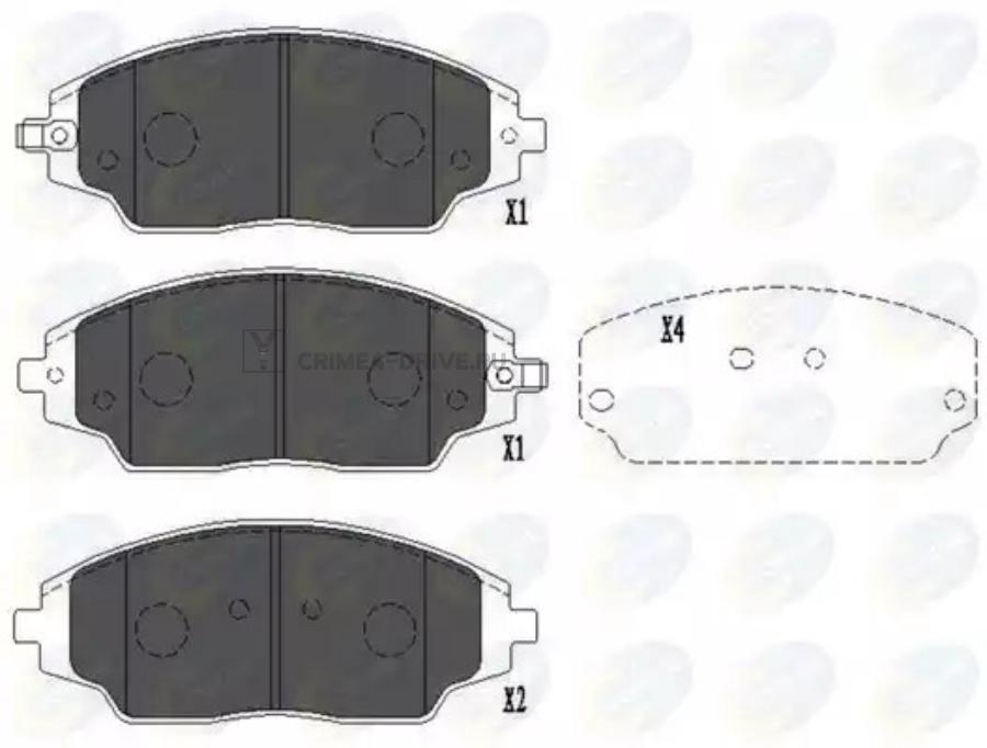 Колодки тормозные дисковые перед прав/лев