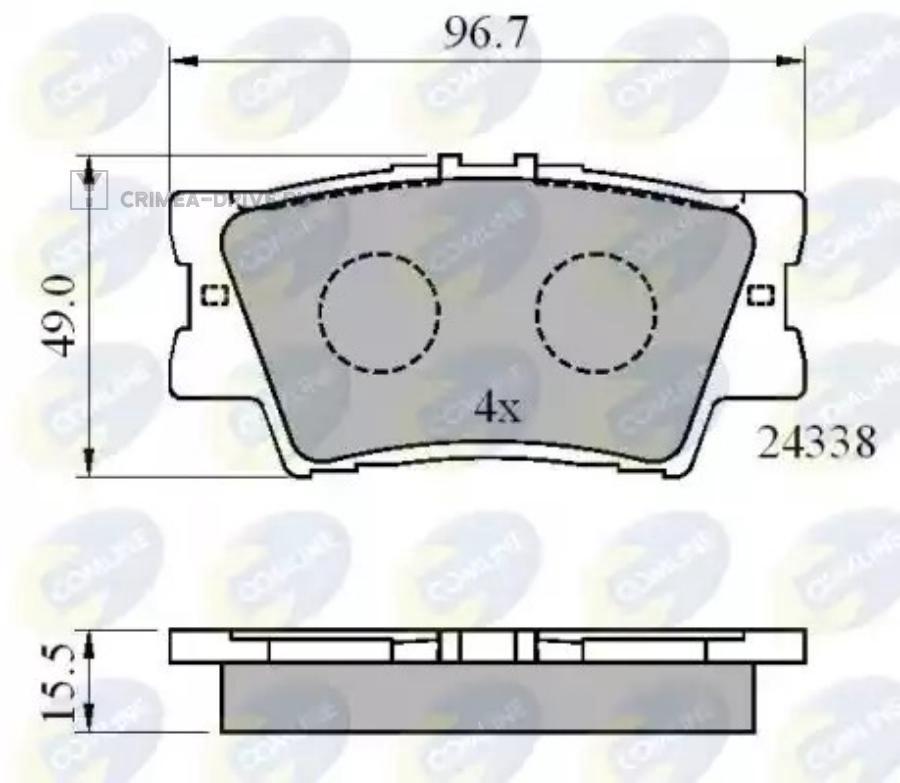 Колодки тормозные дисковые зад прав/лев