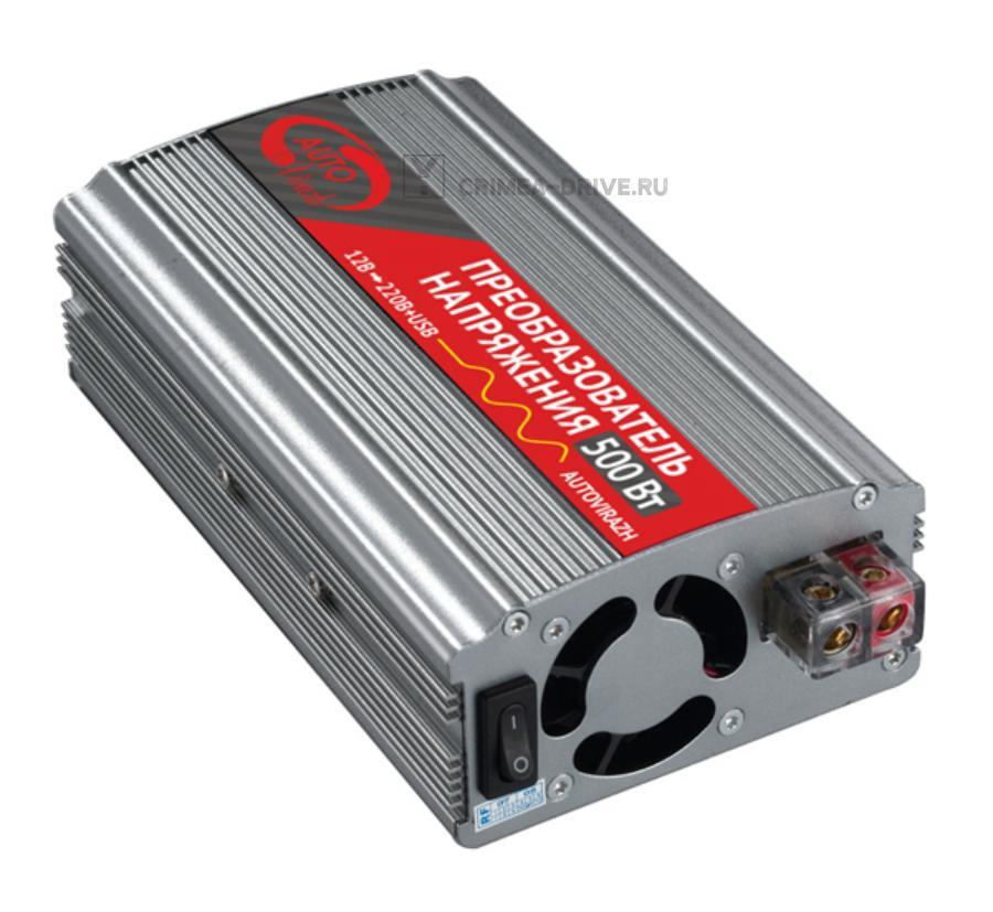 Преобразователь напряжения-инвертер 500 Вт с USB-выходом