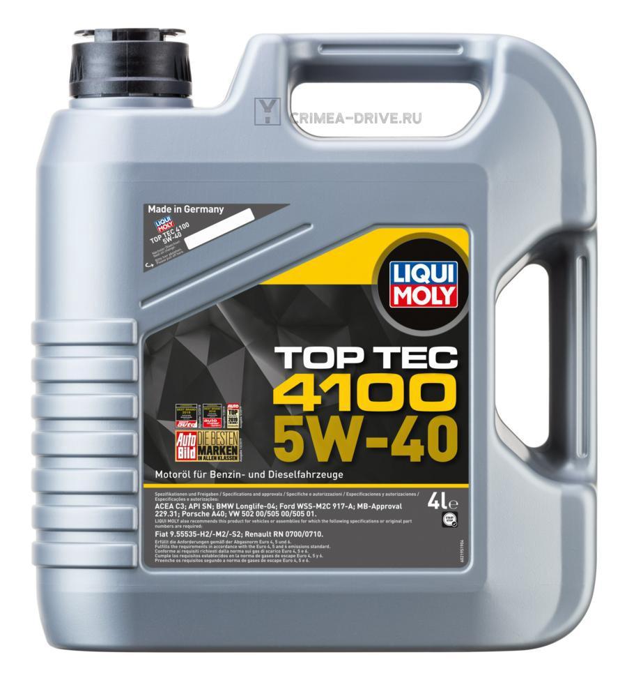 5W-40 Top Tec 4100 (НС-синт.мотор.масло) 4л