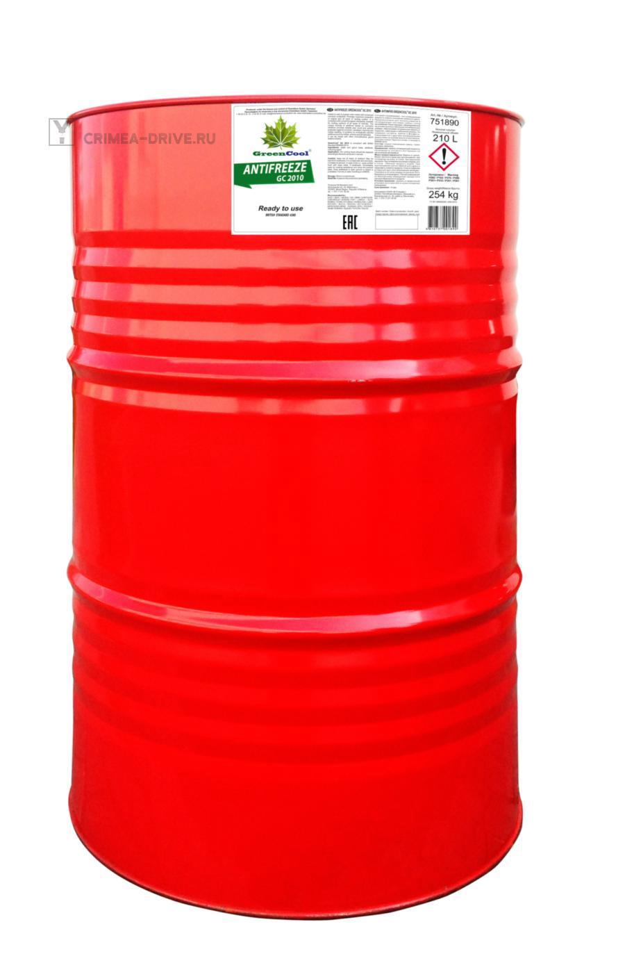 Антифриз GС2010 G11, 210 л (готовый/ready to use), зеленый