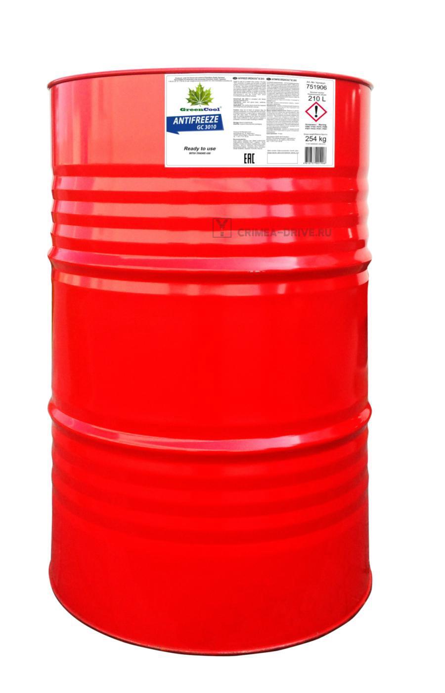 Антифриз GС3010 G11, 210 л (готовый/ready to use), синий