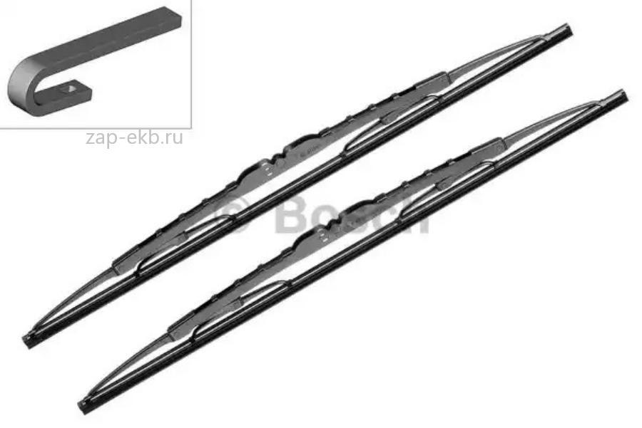 Комплект щеток стеклоочистителя летние ECO 550/550мм