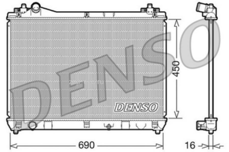 Радиатор водяной системы охлаждения двигателя