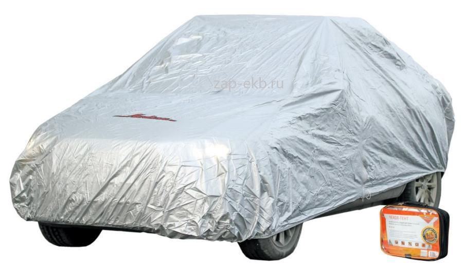 Чехол-тент на автомобиль защитный, размер L (520х192х120см), цвет серый, молния для двери, универсальный