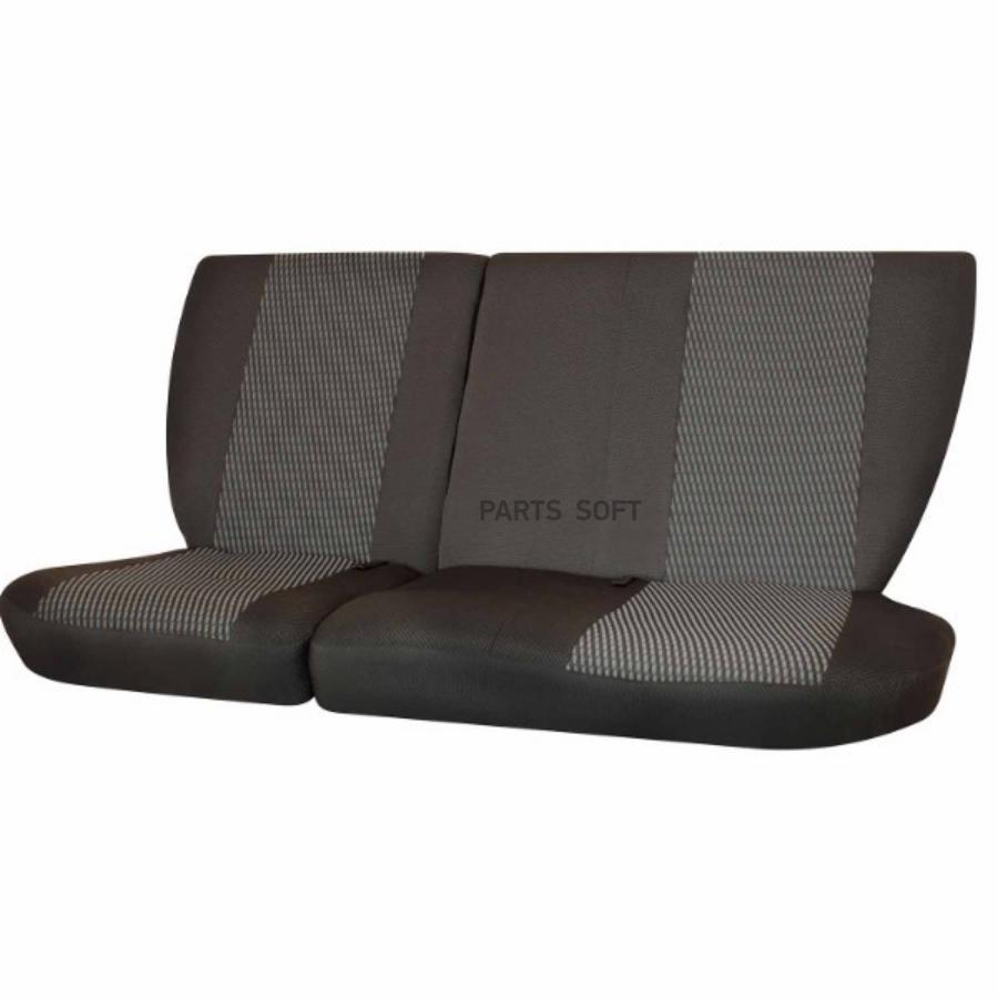 Чехлы сиденья ГАЗ-3110 1997-2008 Жаккард боковая поддержка 12 предм. SKYWAY Темно-серый