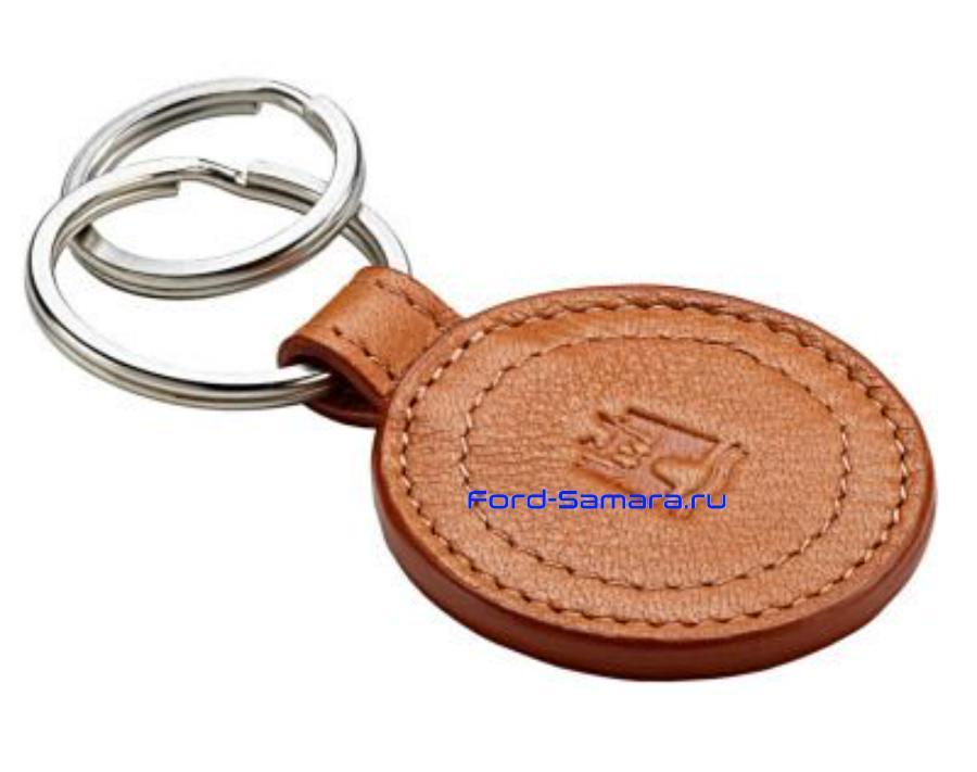 Кожаный брелок Volkswagen Classic Leather Key Charm Beige